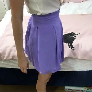 LIKE NEW! Tobi Pleated Lavender Skater Skirt